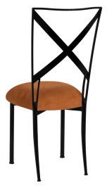 Blak. with Copper Suede Cushion