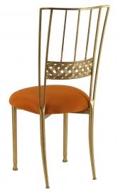 Gold Bella Braid with Copper Stretch Knit Cushion