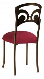 Bronze Fleur de Lis with Cranberry Stretch Knit Cushion