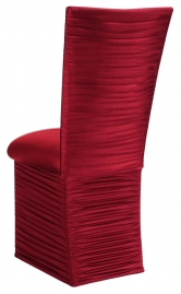 Chloe Cranberry Stretch Knit Chair Cover and Cushion and Skirt
