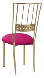 Gold Bella Braid with Fuchsia Stretch Knit Cushion