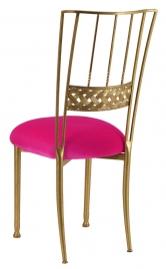Gold Bella Braid with Fuchsia Velvet Cushion