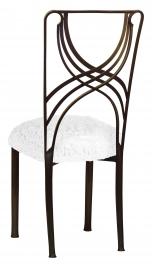 Bronze La Corde with White Lace over White Knit Cushion