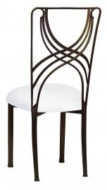 Bronze La Corde with White Suede Cushion
