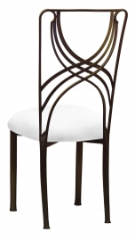 Bronze La Corde with White Stretch Knit Cushion