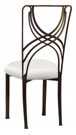 Bronze La Corde with White Leatherette Cushion