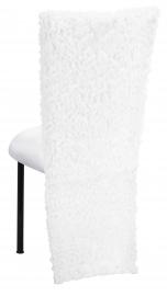 White Wedding Lace Jacket with White Stretch Knit Cushion on Black Legs