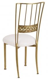 Gold Bella Braid with White Stretch Knit Cushion