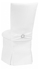 White Suede Chair Cover