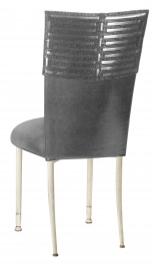 Head Dress with Gunmetal Stretch Knit Cushion on Ivory Legs