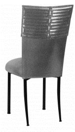 Head Dress with Gunmetal Stretch Knit Cushion on Black Legs