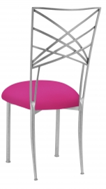 Silver Fanfare with Hot Pink Stretch Knit Cushion