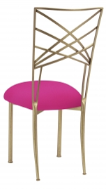 Gold Fanfare with Hot Pink Stretch Knit Cushion