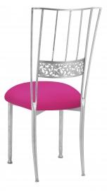 Silver Bella Fleur with Hot Pink Stretch Knit Cushion