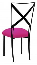Blak. with Hot Pink Stretch Knit Cushion