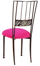 Mahogany Bella Fleur with Hot Pink Cushion