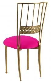 Gold Bella Braid with Hot Pink Stretch Knit Cushion