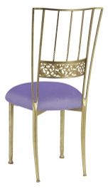 Gold Bella Fleur with Lavender Velvet Cushion