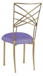 Gold Fanfare with Lavender Velvet Cushion