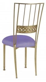 Gold Bella Braid with Lavender Velvet Cushion