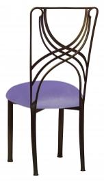 Bronze La Corde with Lavender Velvet Cushion