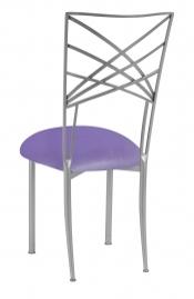 Silver Fanfare with Lavender Velvet Cushion