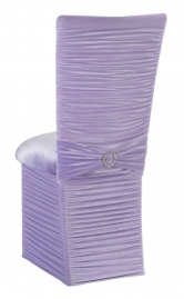 Chloe Lavender Velvet Chair Cover with Jewel Band