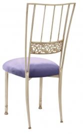 Ivory Bella Fleur with Lavender Velvet Cushion