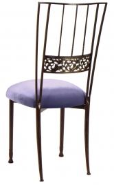 Mahogany Bella Fleur with Lavender Velvet Cushion