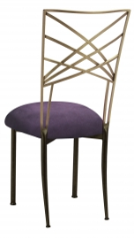 Two Tone Fanfare with Lilac Suede Cushion