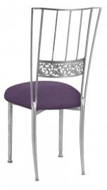 Silver Bella Fleur with Lilac Suede Cushion