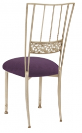 Ivory Bella Fleur with Lilac Suede Cushion
