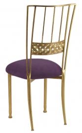 Gold Bella Braid with Lilac Suede Cushion