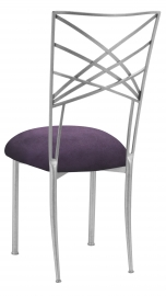 Silver Fanfare with Lilac Suede Cushion