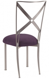 Simply X with Lilac Suede Cushion