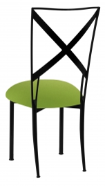 Blak. with Lime Green Stretch Knit Cushion