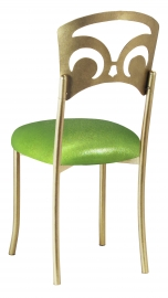 Gold Fleur de Lis with Metallic Lime Stretch Knit Cushion