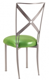 Simply X with Metallic Lime Cushion