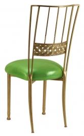 Gold Bella Braid with Metallic Lime Cushion