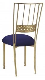 Gold Bella Braid with Navy Blue Suede Cushion