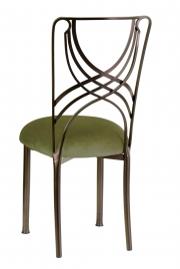 Solar Bronze La Corde with Olive Velvet Cushion