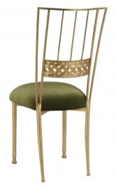 Gold Bella Braid with Olive Velvet Cushion