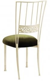 Ivory Bella Fleur with Olive Velvet Cushion