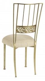 Gold Bella Fleur with Parchment Linette Boxed Cushion