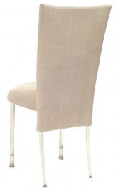 Parchment Linette Chair Cover and Cushion on Ivory Legs