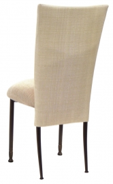 Parchment Linette Chair Cover and Cushion on Mahogany Legs
