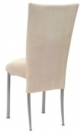 Parchment Linette Chair Cover and Cushion on Silver Legs