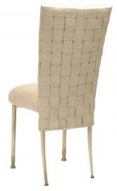 Woven Parchment Linette on Ivory Legs