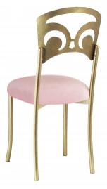 Gold Fleur de Lis with Pink Sparkle Velvet Cushion