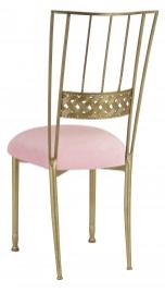 Gold Bella Braid with Pink Sparkle Velvet